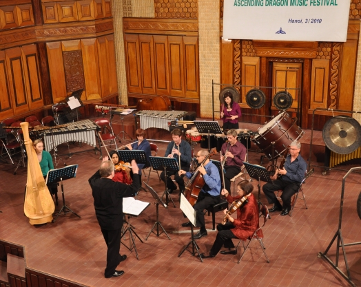Harpist Alison Bjorkedal featured in Le jardins d'autre monde by Ton That Tiet